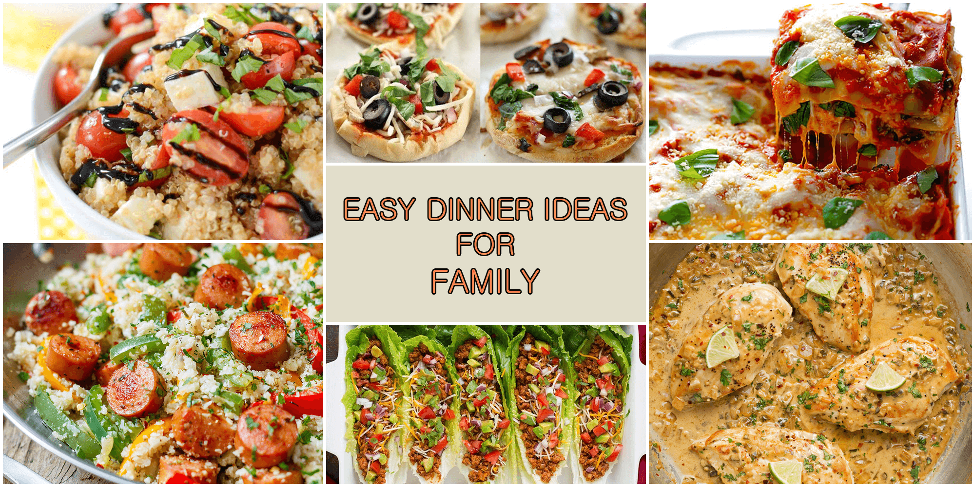 healthy and easy dinner ideas for family