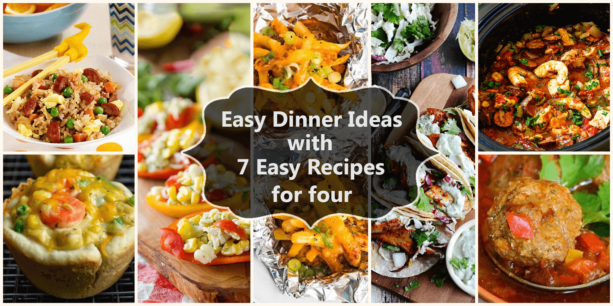 7 healthy easy recipes for 4 easy dinner ideas with 7 easy recipes for 4 forumfinder Gallery