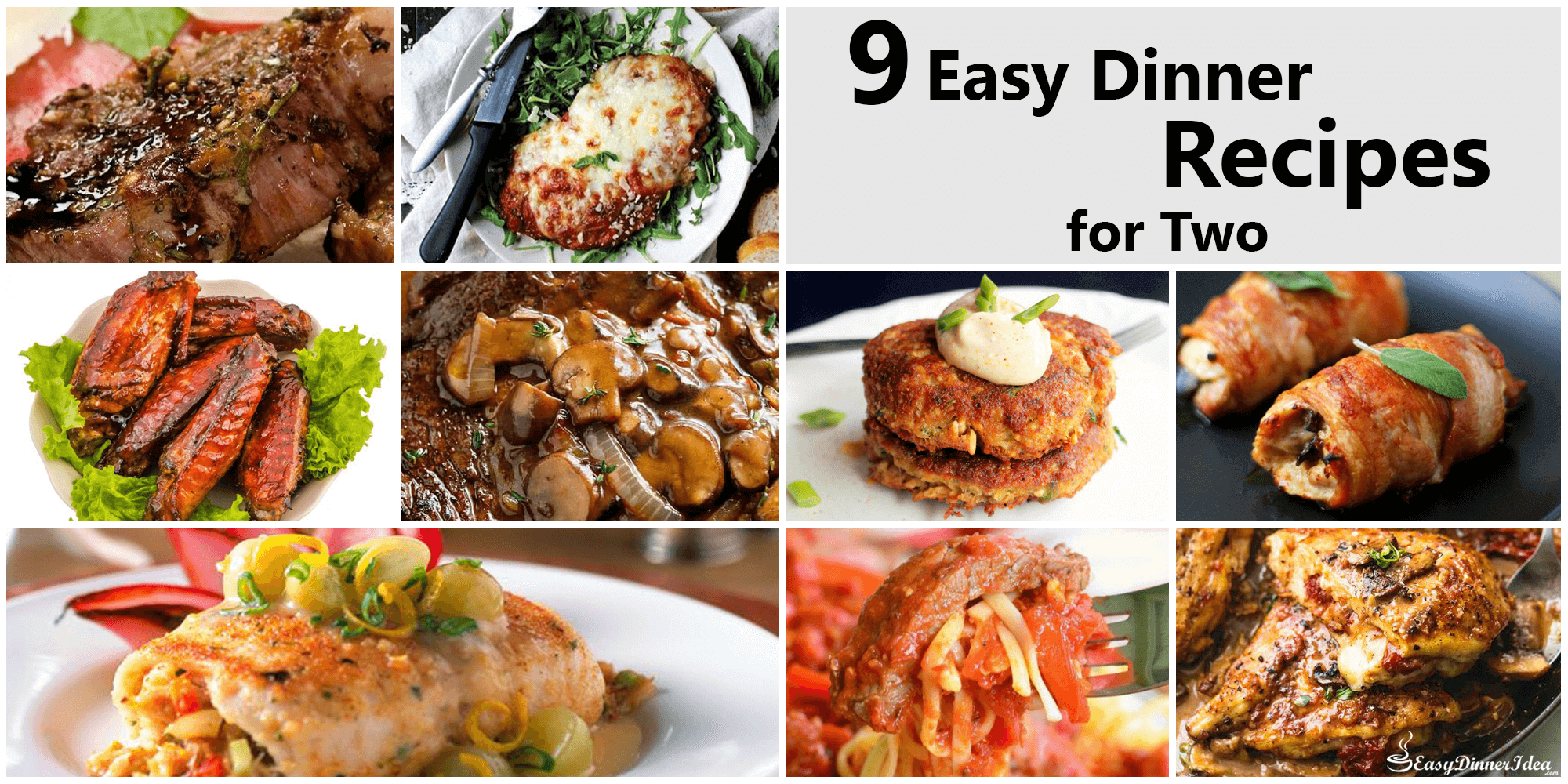 9 easy dinner recipes for two